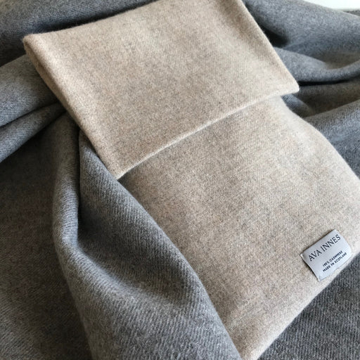 100% Cashmere Hot Water Bottle Cover
