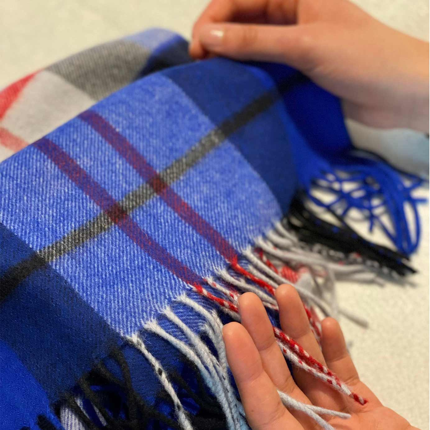 Cobalt Blue Luxury Small Cashmere Comfort Blanket