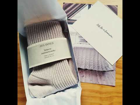 Light Grey Luxury Pure Cashmere Bed Socks