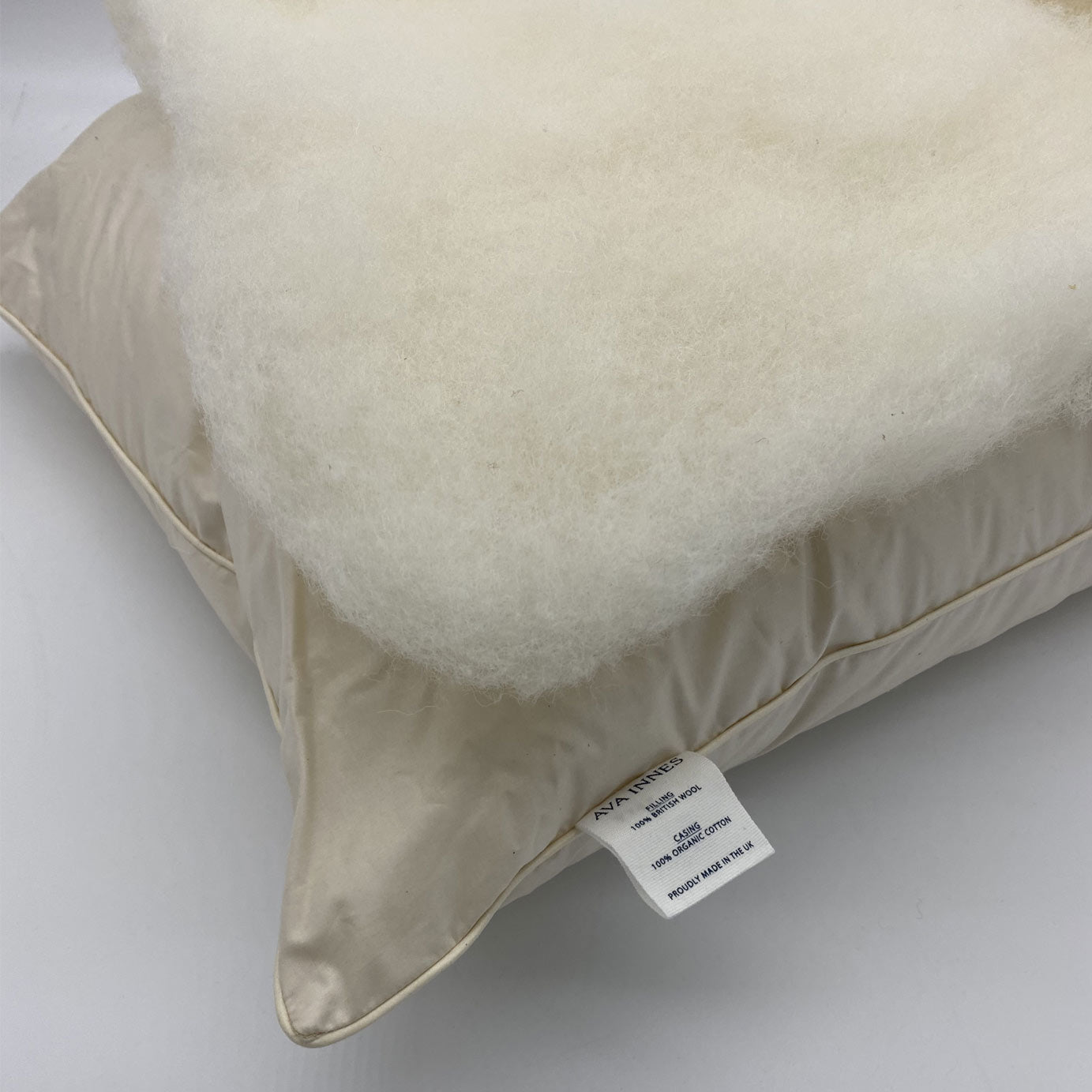 Luxury British Wool 'Soft & Slim' Bed Pillow