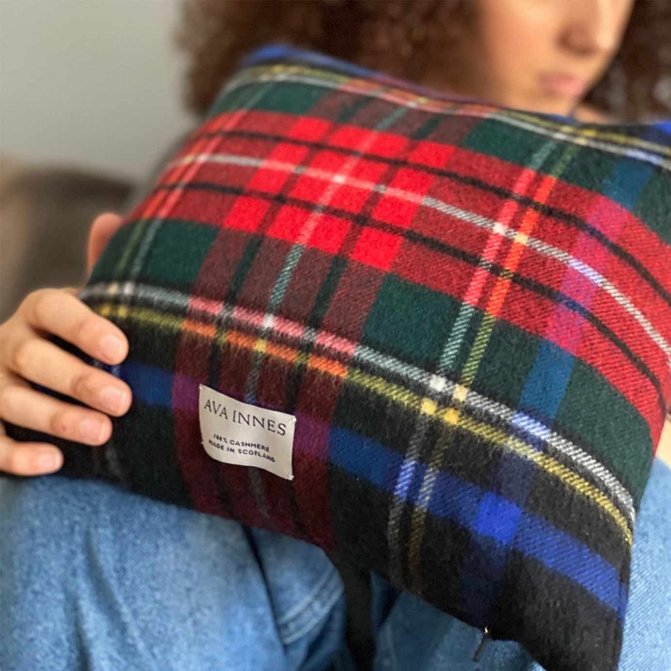 Portsoy Luxury Cashmere Cushion