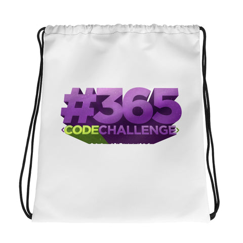 #365CodeChallenge Drawstring bag