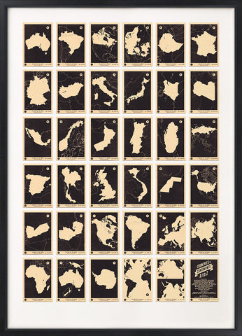 Atlas Maps Countries and Continents A to Z (Monochrome)