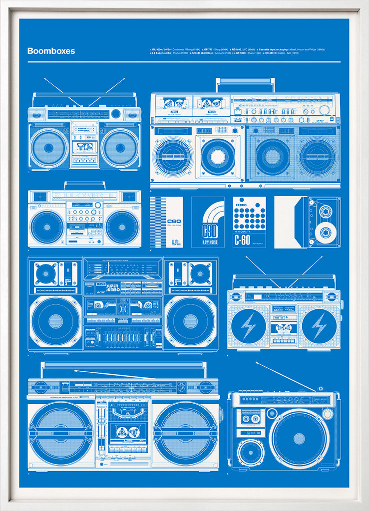 Boomboxes (Blue)