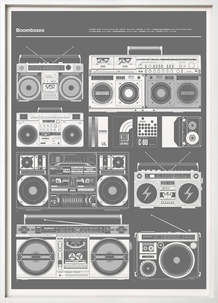 Boomboxes (Grey)