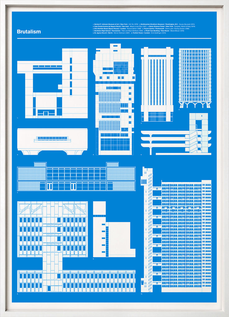 Brutalism print blueprint 67 inc architecture 67inc 67 inc brutalism blue malvernweather Gallery