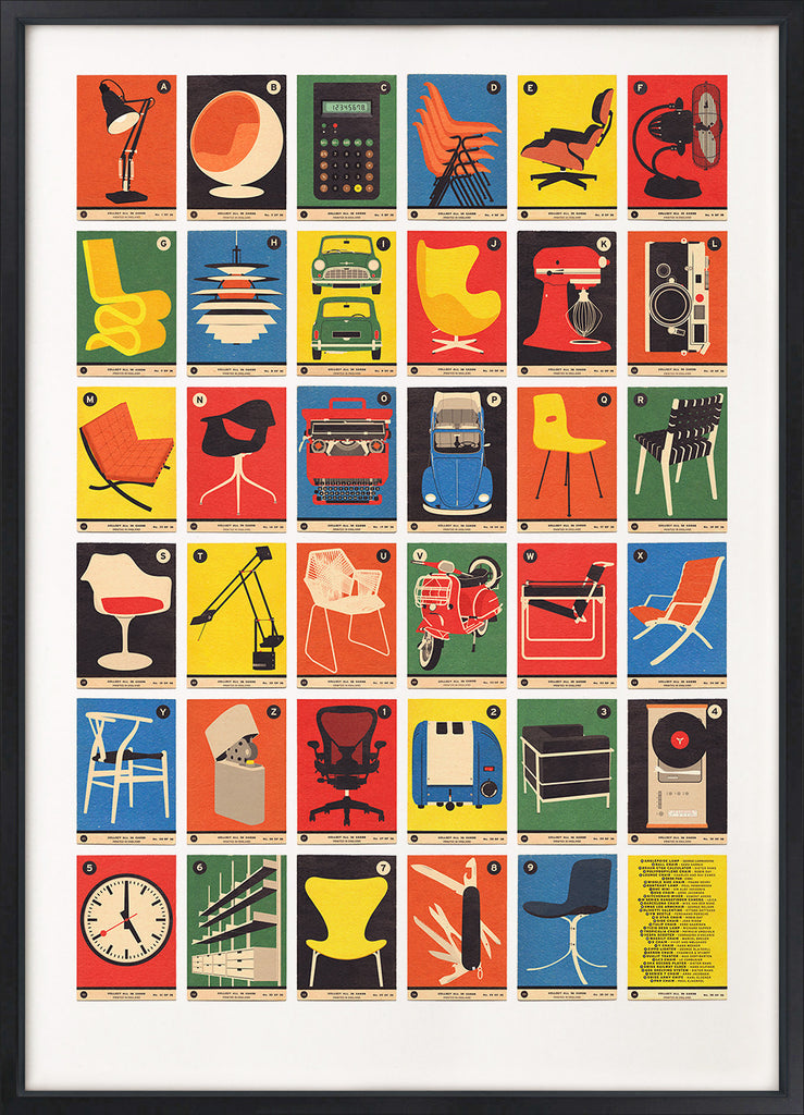 Design Classics A to Z - Alphabet Print - 67 Inc