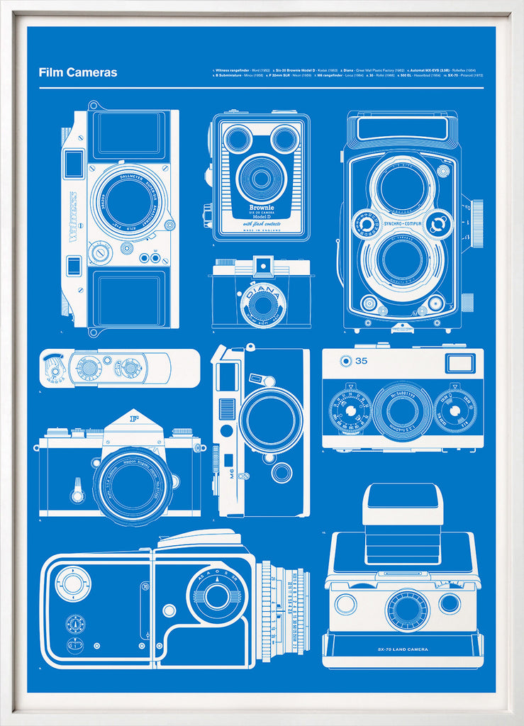 Film cameras print blueprint 67 inc 67inc 67 inc film cameras blue malvernweather Gallery