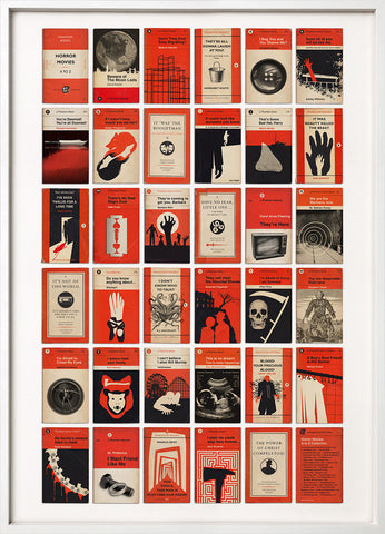 Horror Movies Book Covers A to Z
