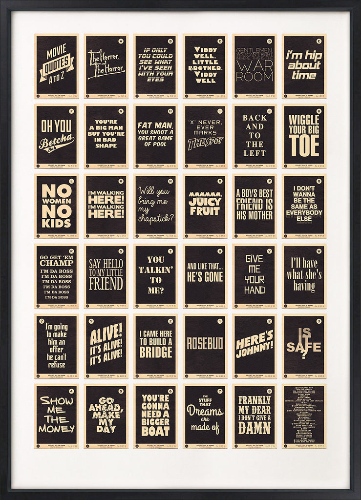 Movie Quotes A to Z (Black)