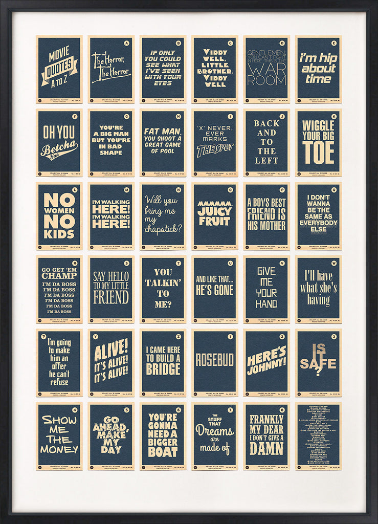 Movie Quotes A to Z (Blue)