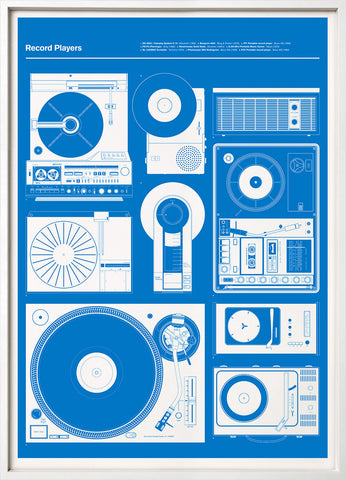 Record Players (Blue)