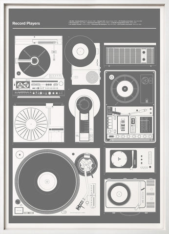 Record Players (Grey)