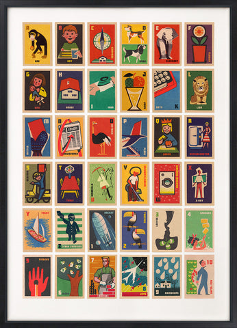 Vintage Matchbox Labels A to Z