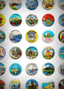 Wish you were here! - British holiday resort vintage badges print 67inc.com