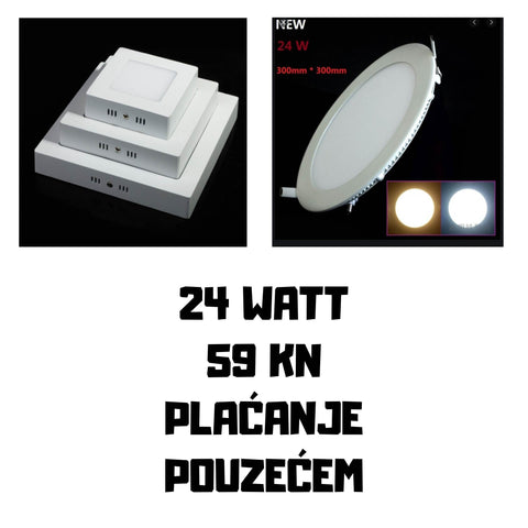 Led Plafonjere 24 watt