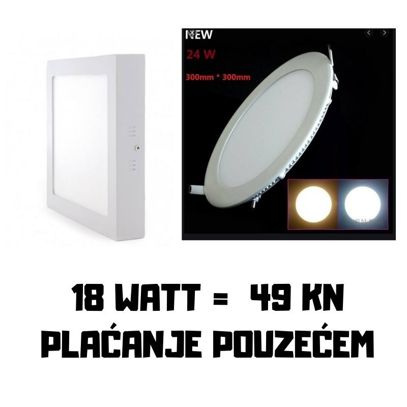 LED PLAFONJERE 18 WATT