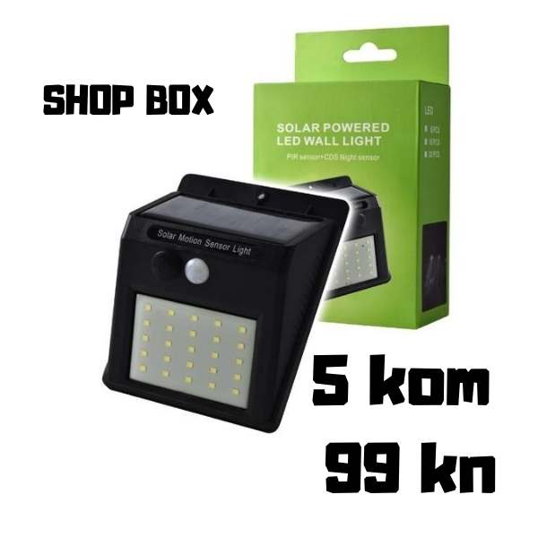 SOLARNI LED REFLEKTOR SHOP BOX