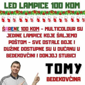 mix led lampice 100 kom