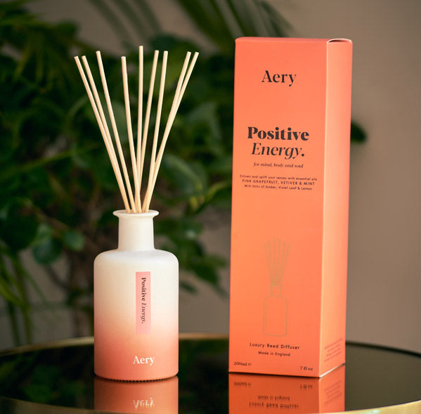 Aery Living Reed Diffuser Positive Energy on A Desk