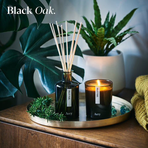 Aery Living Scented Candle Black Oak
