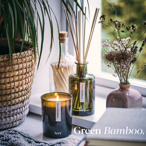 Aery Living Scented Candle Green Bamboo