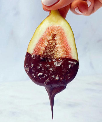 Salted Chocolate Dipped Fig