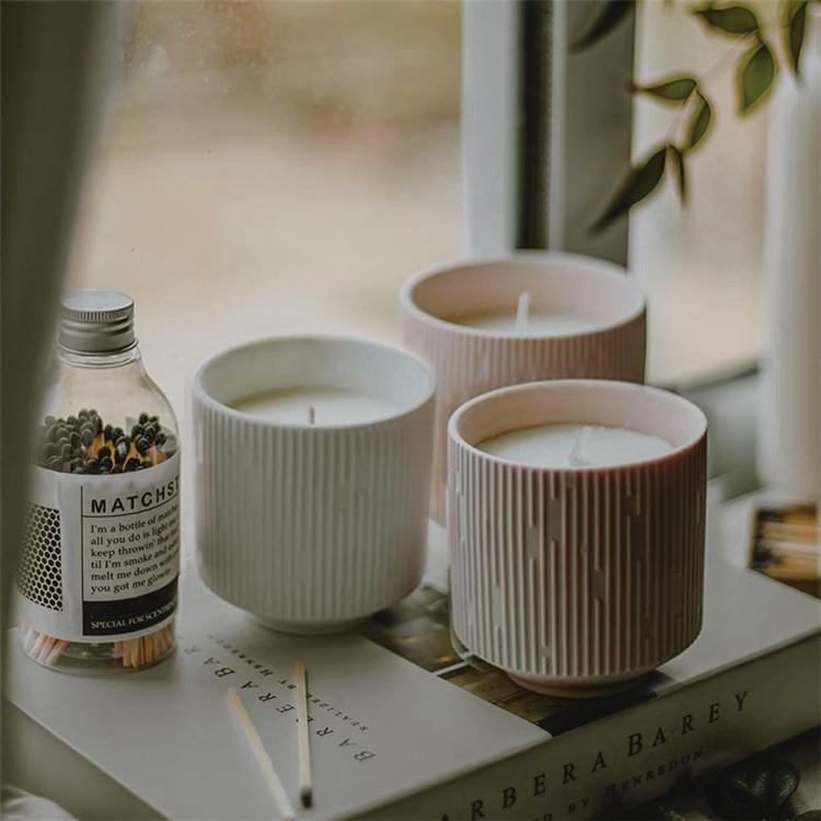 Neroli & White Lavender Candle - White Clay Pot - Aery Living
