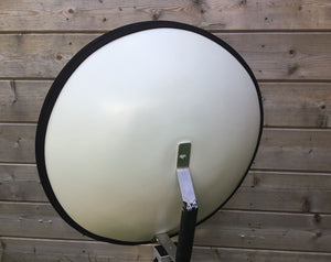 Wind Shield for Parabolic Reflector
