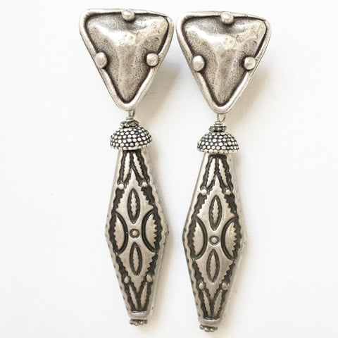 "Clip Earrings E-C7-23 SC  (2""L)"