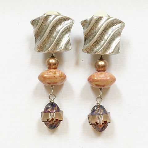 "Clip Earrings E-C7-28-SC  (2""L)"