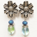 "Clip Earrings E-C7-6 SC  (1.6""L)"