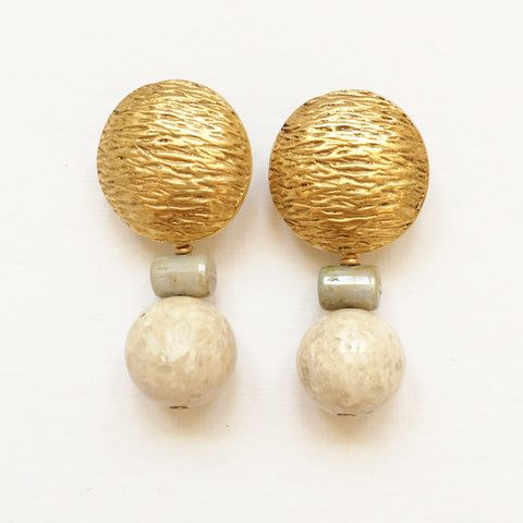 "Clip Earrings E-P7-2 GC  (1.5""L)"