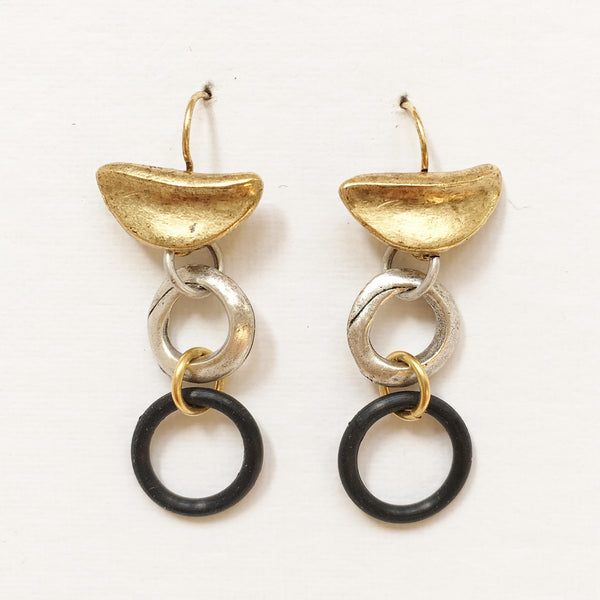 "Pierced Earrings E-W7-24 GP  (1.75""L)"