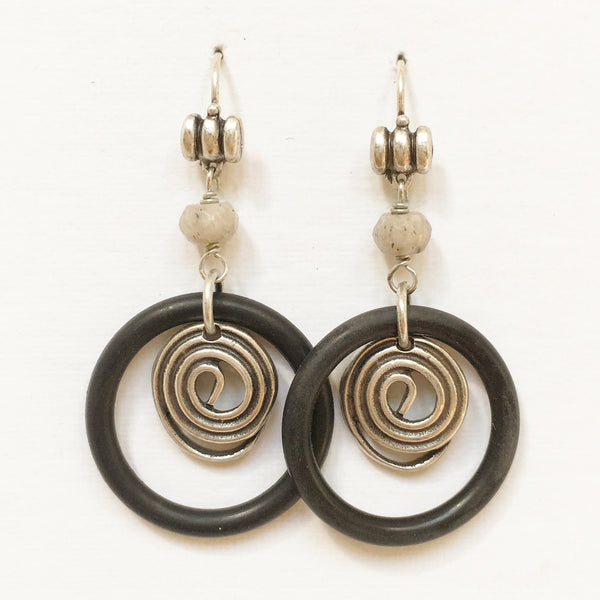 "Pierced Earrings E-W7-30 SP  (2""L)"