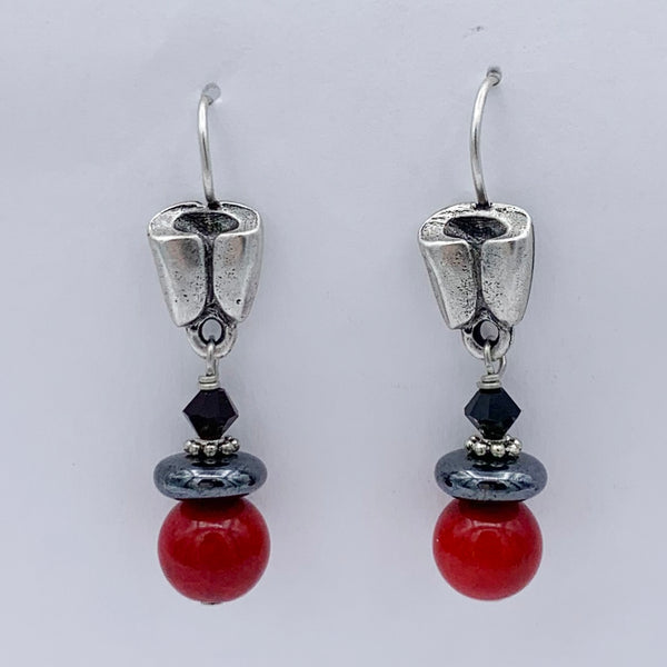 "Pierced Earrings E-W7-5 SP  (1.5""L)"