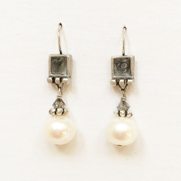 "Pierced Earrings E-W7-7 SP  (1.5""L)"