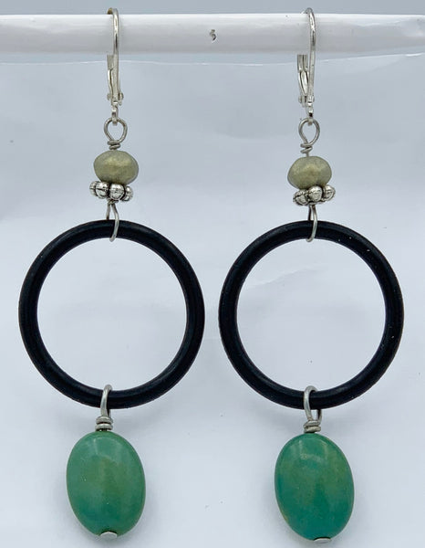 "Pierced Earrings E-W9-11 SP  (2.75""L)"