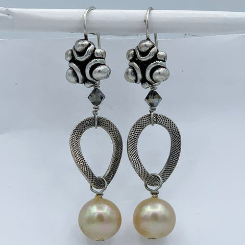 "Pierced Earrings E-W9-7 SP  (2""L)"