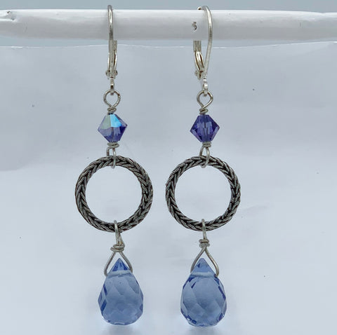 "Pierced Earrings E-W9-9 SP  (2""L)"
