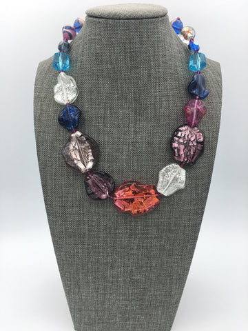 Venetian Glass Chip Necklace