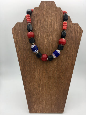 Vintage Trading Bead Necklace