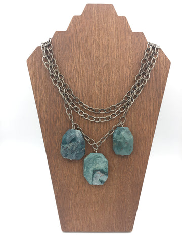 Deep Teal Quartz Necklace