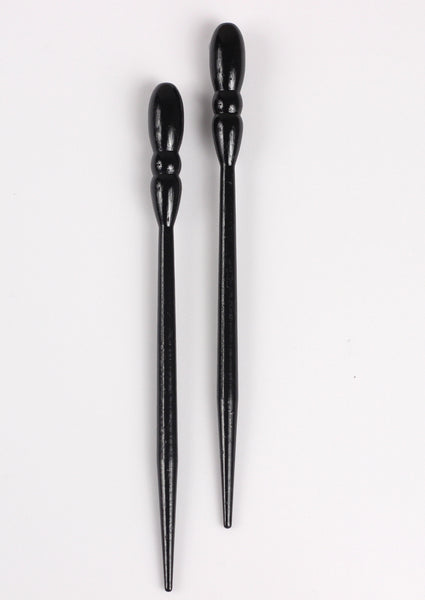 Onyx Glossy All Wood Hair Sticks