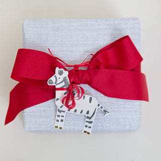 Zebra Pretty Gift Tag