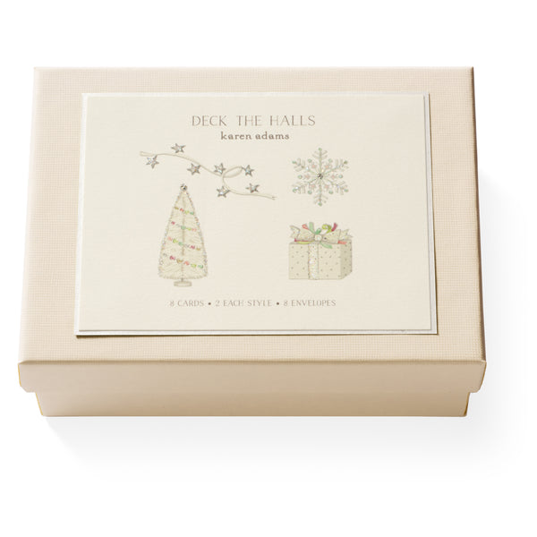 Deck the Halls Note Card Box-1