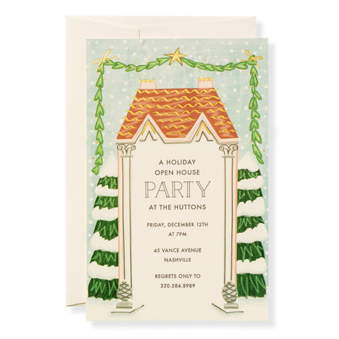 Holiday House Invitation
