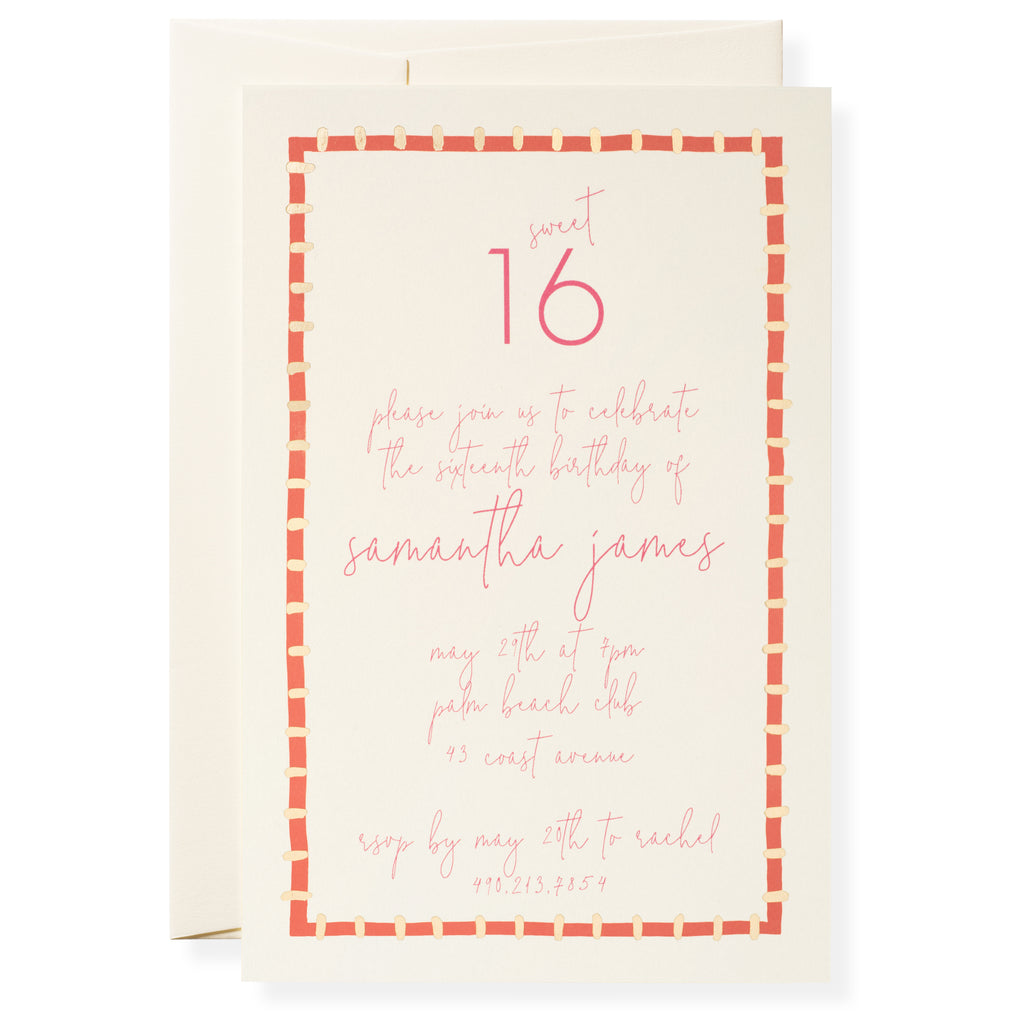 Kate in Coral Invitation