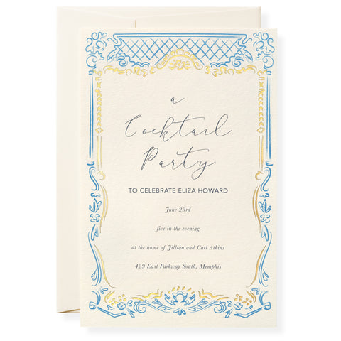 Nicole in French Blue Invitation