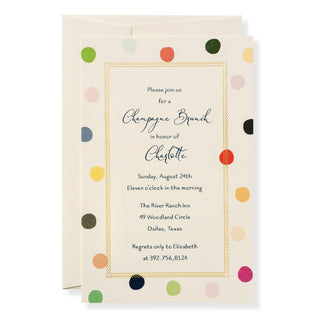Polka Invitation